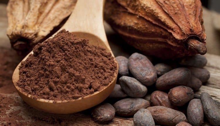 Калорийность какао на 100 продукта высокая.