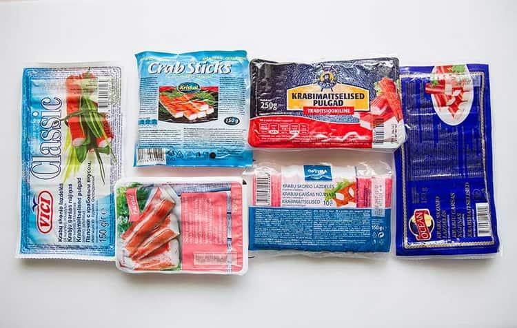 Крабовые палочки: калорийность, белки, жиры и углеводы