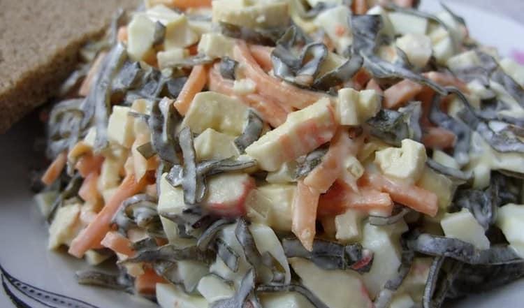 есть масса замечательных салатов с ламинарией.