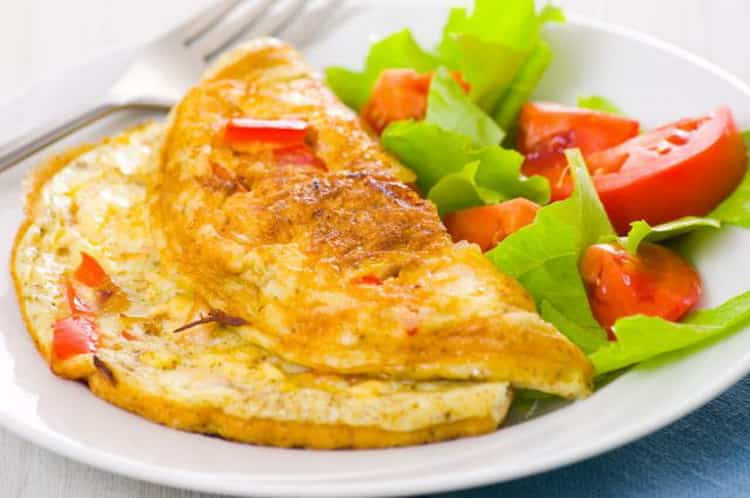 Омлет: калорийность, содержание белков, жиров, углеводов