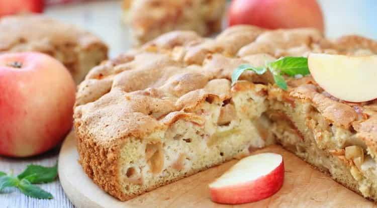 калорийность шарлотки с яблоками без масла