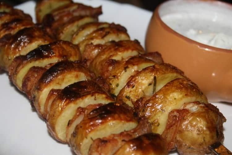 Картофель с салом: калорийность