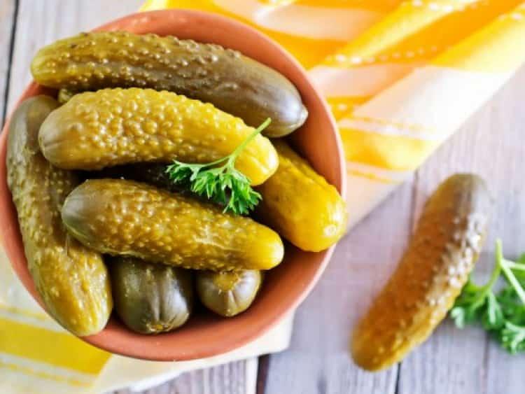 Соленые огурцы: калорийность, белки, жиры и углеводы
