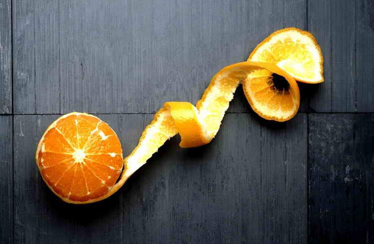 калорийность 1 апельсина без кожуры