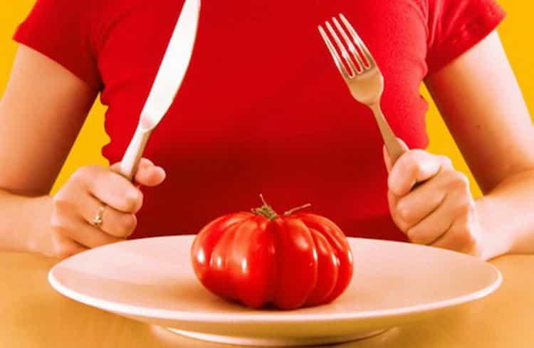 сколько калорий в помидоре свежем