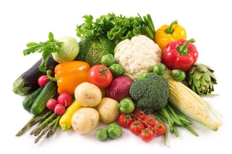 тушеные овощи калорийность