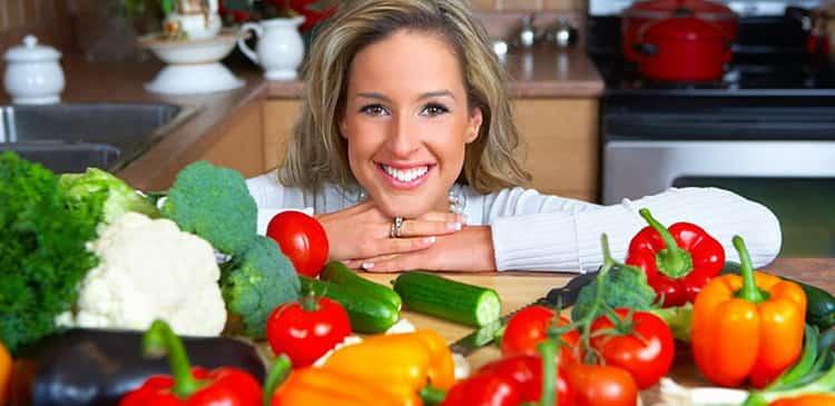 калорийность овощей: таблица