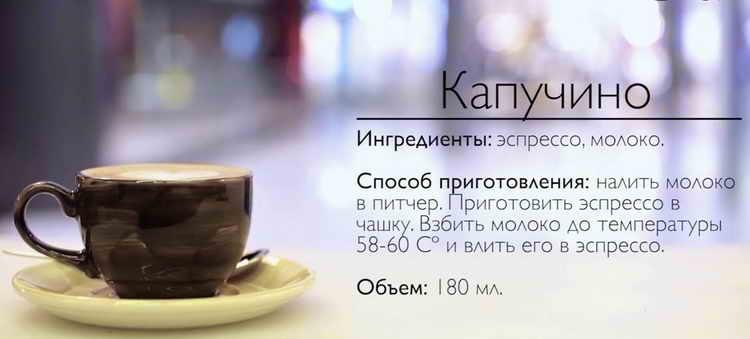 капучино калорийность с сахаром