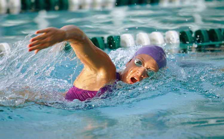 плавание для похудения как дышать