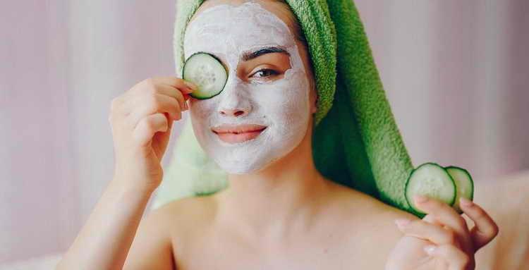 очищающая маска для лица огуречная