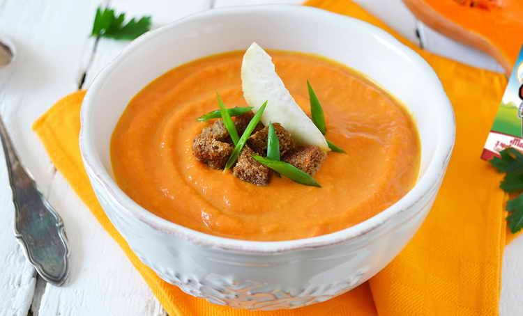 суп-пюре с сельдереем и тыквой для похудения