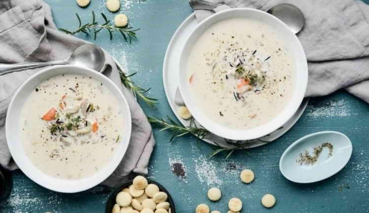 Крем-суп из сельдерея с добавлением сливок для похудения