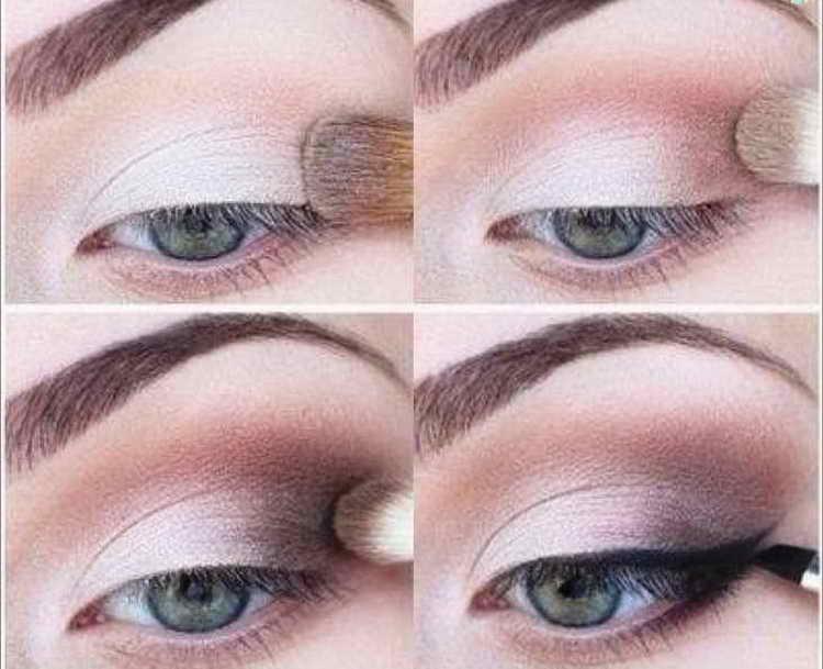 макияж для зеленых глаз со стрелками