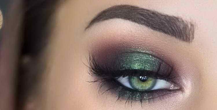 макияж для зеленых глаз смоки