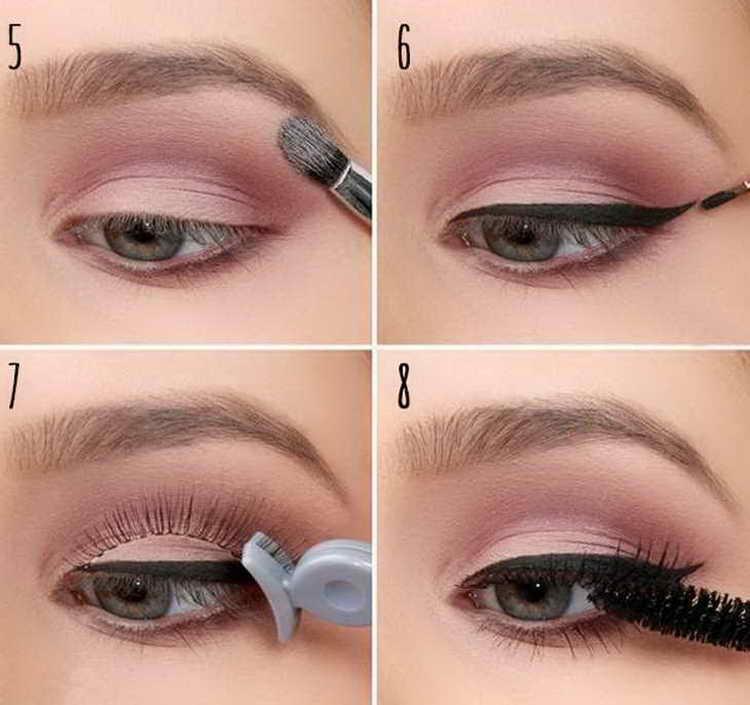 нежный слегка заметный макияж зеленых глаз